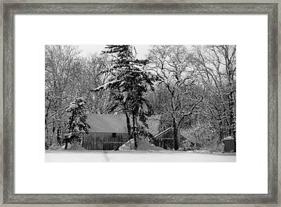 Winter On The Farm Framed Print by Thomas Fouch