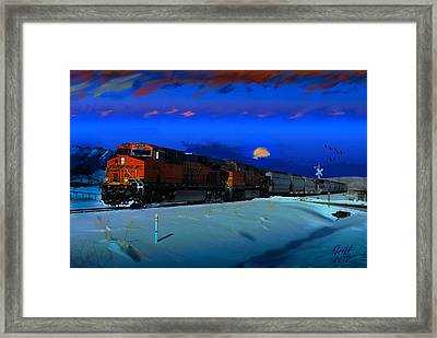Winter On The Joint Line Of Colorado Framed Print by J Griff Griffin