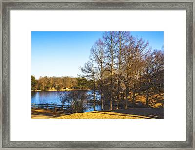 Winter On The Lake Framed Print by Barry Jones