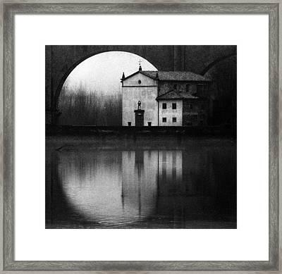 Winter On The Lake Framed Print