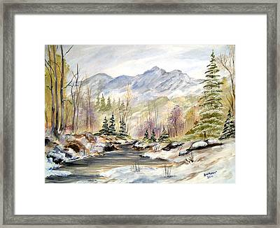 Framed Print featuring the painting Winter On The River by Dorothy Maier