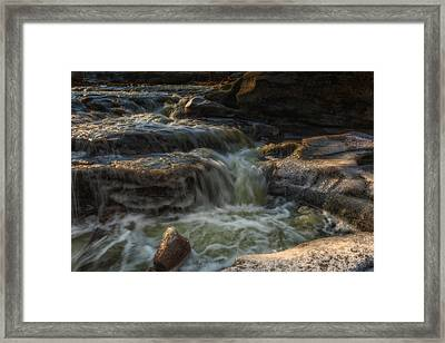 Winter On The Rocky River 1 Framed Print by Michael Demagall