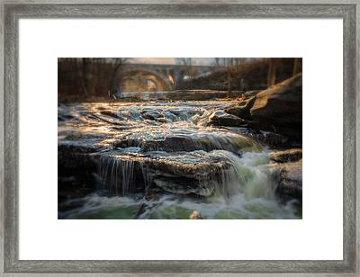 Winter On The Rocky River Framed Print by Michael Demagall