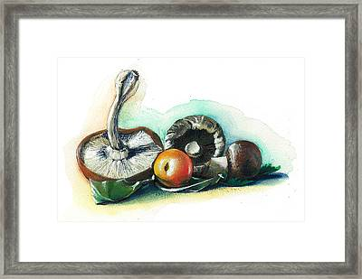 Winter On The Table Framed Print by Alessandra Andrisani