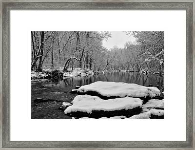 Winter On The Wissahickon Creek Framed Print by Bill Cannon