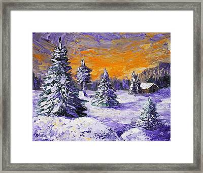 Winter Outlook Framed Print by Anastasiya Malakhova