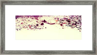 Winter Painting. Aquarel By Nature Framed Print by Jenny Rainbow