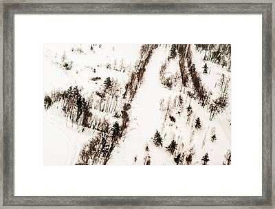 Winter Painting I. Aquarel By Nature Framed Print