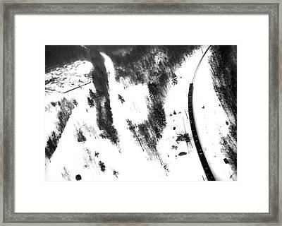Winter Painting I. Ink Drawing By Nature Framed Print