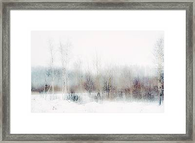 Winter Painting II. Aquarel By Nature Framed Print
