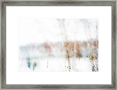 Winter Painting IIi. Aquarel By Nature Framed Print by Jenny Rainbow