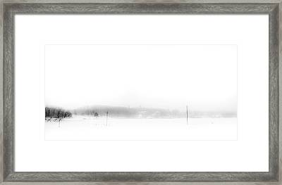 Winter Painting V. Aquarel By Nature Framed Print by Jenny Rainbow