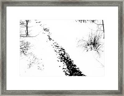 Winter Painting Vi. Ink Drawing By Nature Framed Print