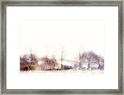 Winter Painting Vii. Aquarel By Nature Framed Print by Jenny Rainbow