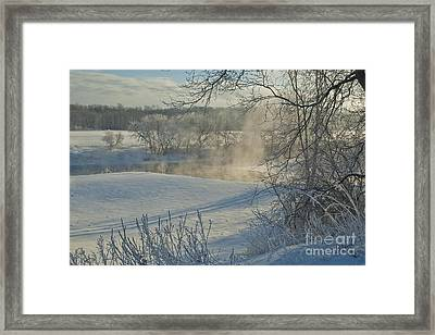 Framed Print featuring the photograph Winter Pastorale II by Jessie Parker