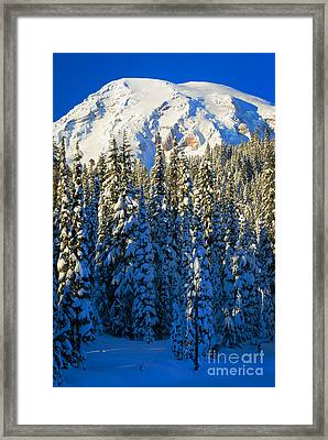 Winter Peak Framed Print by Inge Johnsson