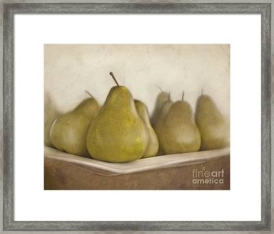 Winter Pears Framed Print