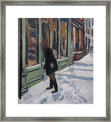 Winter Peekaboo Framed Print