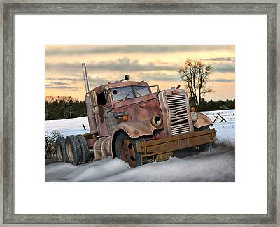 Winter Pete Framed Print
