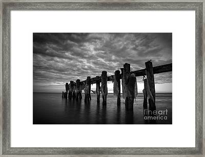 Winter Pier Framed Print by Matt  Trimble