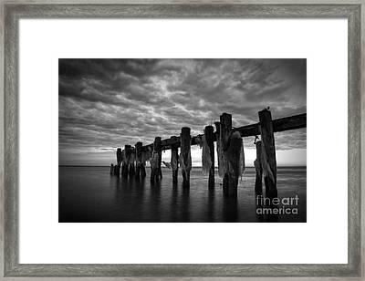 Winter Pier Framed Print