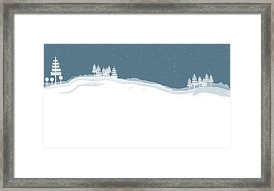 Winter Pines Framed Print by Kevin McLaughlin