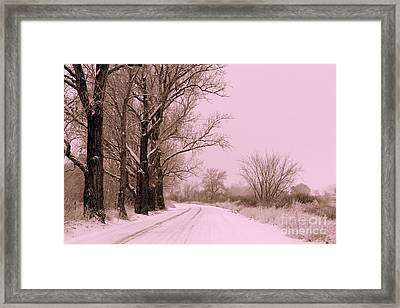 Winter Pink Framed Print