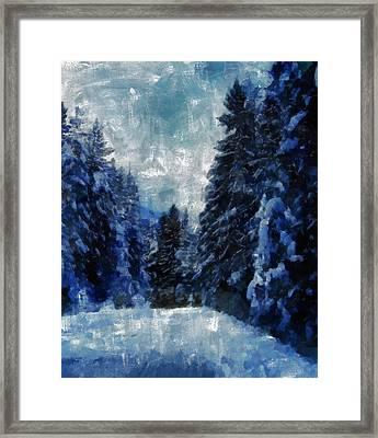 Winter Piny Forest Framed Print by Georgi Dimitrov