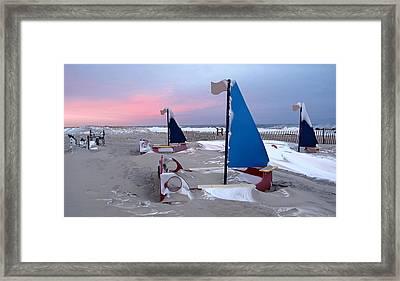 Winter Playland Framed Print by JoAnn Lense