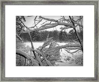 Framed Print featuring the photograph Winter Pond by Kathi Mirto