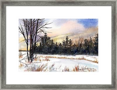 Winter Pond Framed Print by Laura Tasheiko