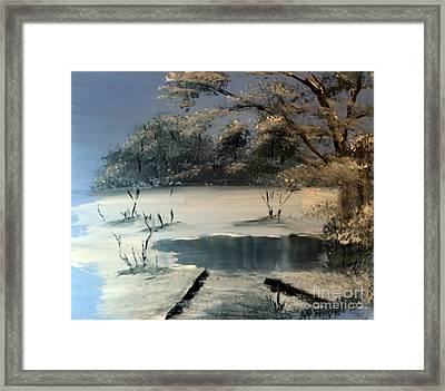 Winter Pond Of Peace Framed Print