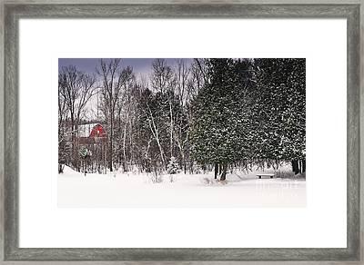Winter Postcard Framed Print by Gwen Gibson