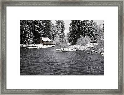 Winter Postcard Framed Print
