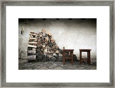Winter Preparations Framed Print