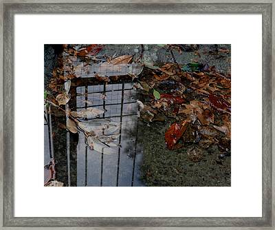 Framed Print featuring the photograph Winter Puddle by Maria  Disley