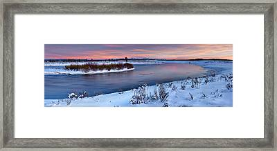 Winter Quiet And Colorful Framed Print by Leland D Howard