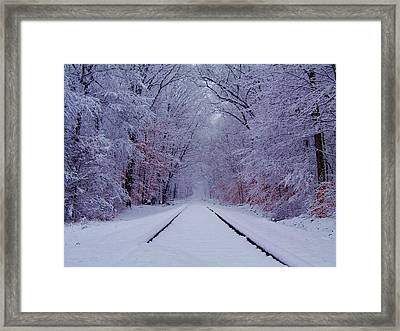Winter Rails Framed Print