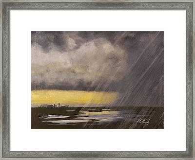 Winter Rain Framed Print