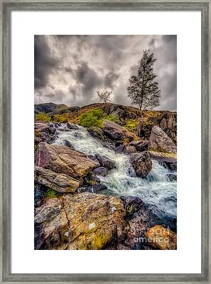 Winter Rapids Framed Print by Adrian Evans