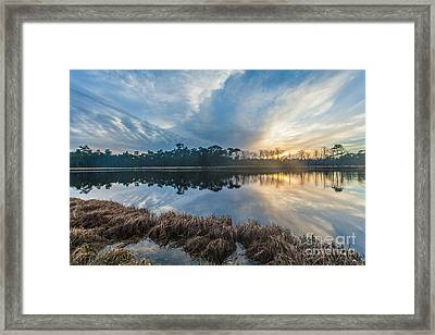 Winter Reflection-1 Framed Print