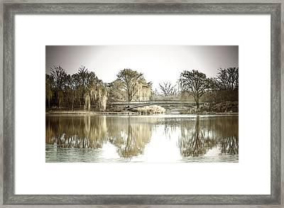 Winter Reflection Landscape Framed Print by Julie Palencia