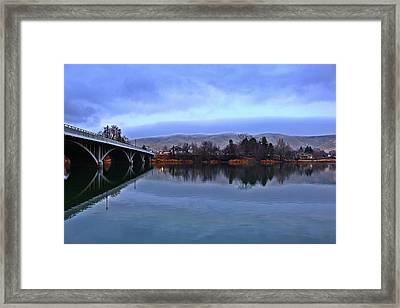 Framed Print featuring the photograph Winter Reflection by Lynn Hopwood