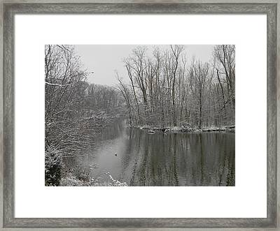 Winter Reflections 1 Framed Print