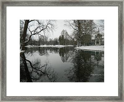 Winter Reflections 2 Framed Print by Kathy Barney