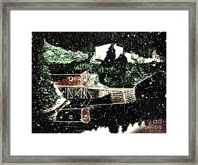 Winter Reflections Framed Print by Barbara Griffin