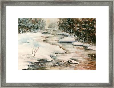 Winter Reflections Framed Print by Kristine Plum