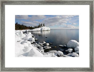 Winter Reflections Framed Print by Sandra Updyke