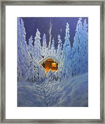 Winter Retreat Framed Print