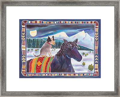 Winter Ride Framed Print by Harriet Peck Taylor
